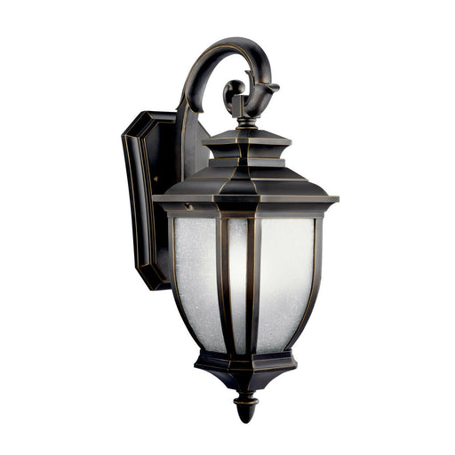 Kichler Lighting 11002RZ-LED Salisbury Collection One Light LED Exterior Outdoor Wall Lantern in Rubbed Bronze Finish