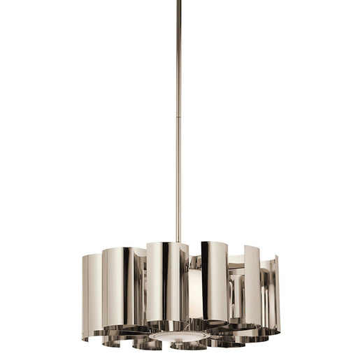 Kichler Lighting 42835 PN Ziva Collection One Light Hanging Pendant Chandelier in Polished Nickel Finish - Quality Discount Lighting