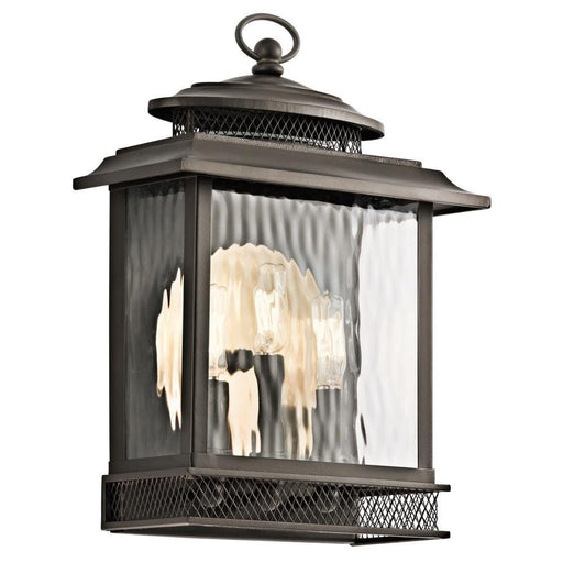 Kichler Lighting 49542 OZ Pettiford Collection Three Light Exterior Outdoor Wall Lantern in Olde Bronze Finish - Quality Discount Lighting