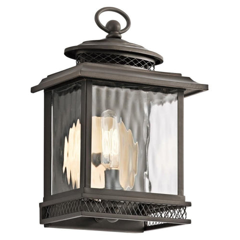 Kichler Lighting 49540 OZ Pettiford Collection One Light Exterior Outdoor Wall Lantern in Olde Bronze Finish - Quality Discount Lighting