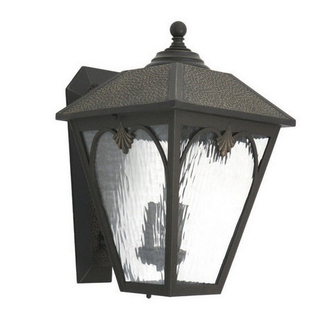 Aztec 39197 By Kichler Lighting Two Light Outdoor Wall Lantern in Hammered Bronze Finish - Quality Discount Lighting