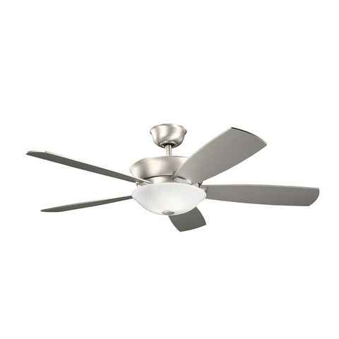 "Skye 300251 LED 54"" Ceiling Fan in Brushed Nickel or Oiled Bronze or White Finish"