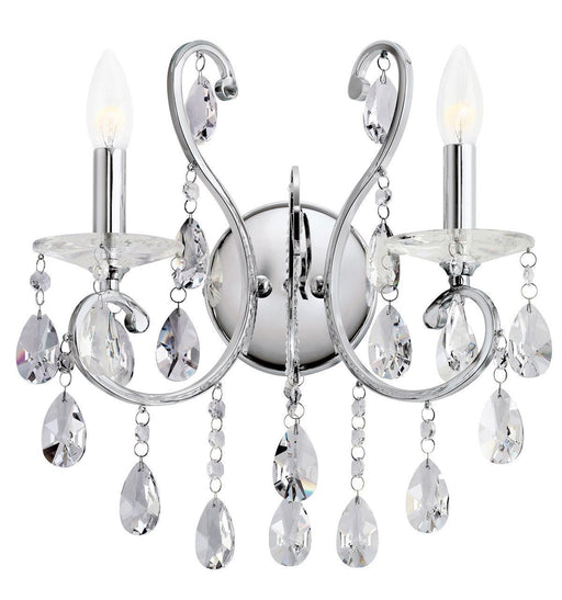 Kichler Lighting 6013 CH Marcalina Collection Two Light Wall Sconce in Polished Chrome Finish - Quality Discount Lighting