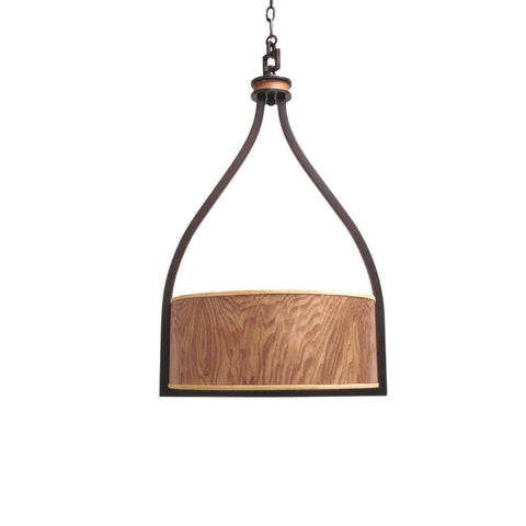 Kalco Lighting 2759 RM New Haven Collection Six Light Pendant Chandelier in Royal Mahogany Finish