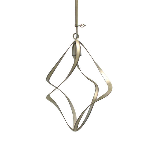 Kalco Lighting B2695 SV Oxford Collection One Light Hanging Pendant in Aged Silver Finish