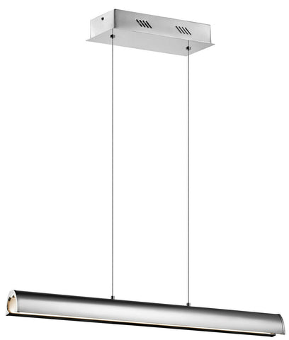 Elan by Kichler Lighting 83445 Kupa Collection LED Linear Hanging Pendant Chandelier in Polished Chrome Finish