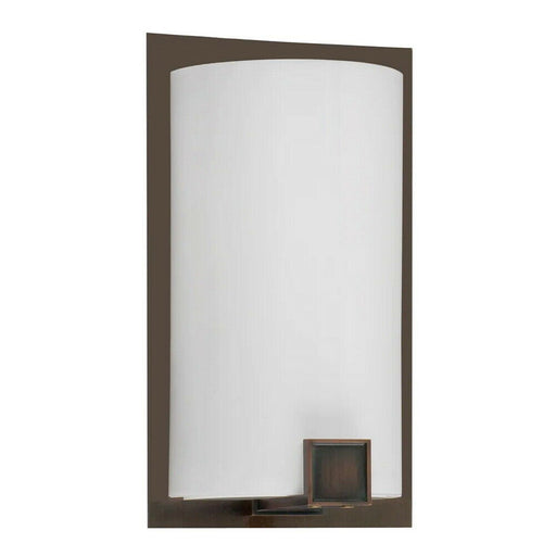 AFX NLS118KBMVX218 Nolan Collection One Light Energy Efficient Fluorescent Wall Sconce in Oakley Bronze Finish