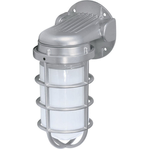 Nuvo Lighting 76-620 One Light Industrial Exterior Outdoor Wall Lantern in Metallic Silver Finish - Quality Discount Lighting