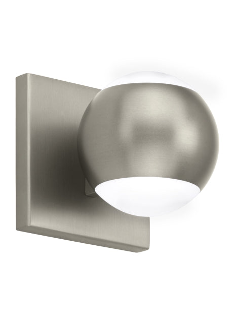 Oko Model #HCS20 LED Wall Sconce in Satin Nickel or Aged Brass Finish