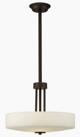 Rainbow Lighting 431A03ORB16 Three Light Hanging Pendant Chandelier in Oil Rubbed Bronze Finish