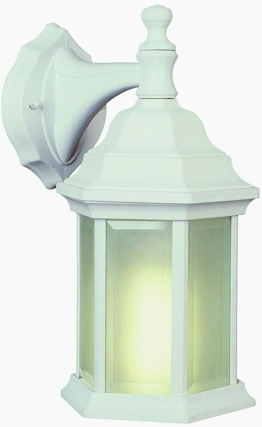 Trans Globe Lighting PL44349 WH-LED One Light LED Outdoor Wall Lantern in White Finish