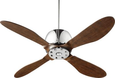 "Elica 52""Ceiling Fan with Downlight in Chrome Finish"