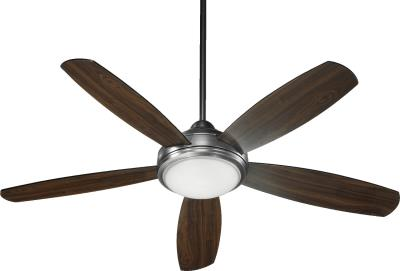 "Colton  36525 52"" Ceiling Fan in Antique Silver or Oiled Bronze or Oiled Bronze with Satin Opal Finish"