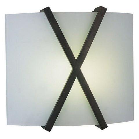 AFX RES1211213QMVRB Restoration Collection Two Light Energy Efficient Fluorescent Wall Sconce in Oil Rubbed Bronze Finish