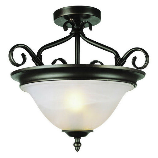 Trans Globe Lighting CB6390 ROB Two Light Semi Flush Ceiling Fixture in Oil Rubbed Bronze Finish