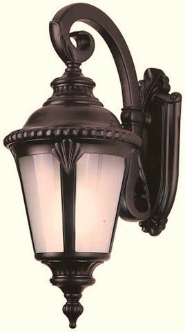 Trans Globe Lighting PL-45045RT-LED Stonebridge Italian Estate Collection One Light LED Outdoor Wall Mount Lantern in Rust Finish