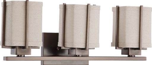 Nuvo Lighting 60-4483 Logan Collection Three Light Bath Vanity Wall Mount in Hazel Bronze Finish - Quality Discount Lighting