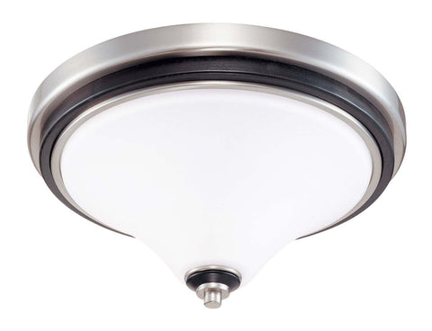 Nuvo Lighting 60-1745 Keen Collection Two Light Flush Ceiling Mount in Brushed Nickel Finish - Quality Discount Lighting