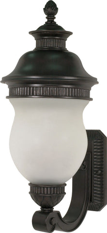 Nuvo Lighting 60-877 Luxor Collection Three Light Exterior Outdoor Wall Lantern in Chestnut Bronze Finish - Quality Discount Lighting