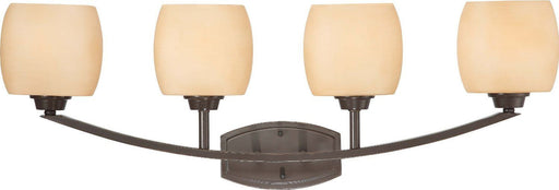 Nuvo Lighting 60-4204 Helium Collection Four Light Bath Vanity Wall Mount in Vintage Bronze Finish - Quality Discount Lighting