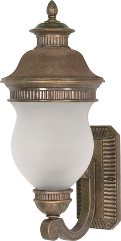 Nuvo Lighting 60-876 Luxor Collection Three Light Exterior Outdoor Wall Lantern in Platinum Gold Finish - Quality Discount Lighting