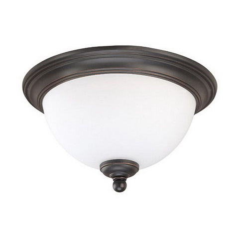 Nuvo Lighting 60-2434 Glenwood Collection One Light Energy Star Rated GU24 Fluorescent Flush Ceiling Mount in Sudbury Bronze Finish - Quality Discount Lighting