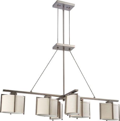 Nuvo Lighting 60-4461 Portia Collection Six Light Hanging Pendant Chandelier in Hazel Bronze Finish - Quality Discount Lighting