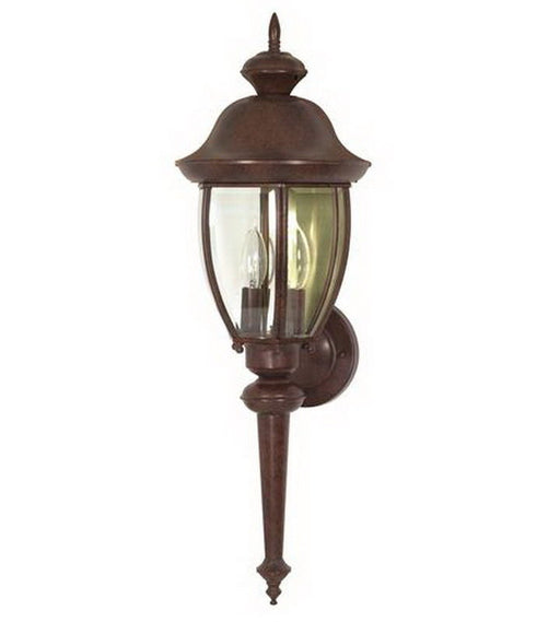 Nuvo Lighting 60-765 New Haven Collection Two Light Exterior Outdoor Wall Lantern in Old Bronze Finish - Quality Discount Lighting