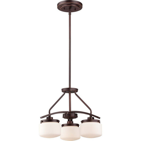 Nuvo Lighting 60-5127 Austin Collection Three Light Hanging Pendant Chandelier in Russet Bronze Finish - Quality Discount Lighting