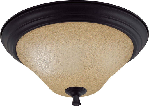 Nuvo Lighting 60-1728 Dakota Collection Two Light Flush Ceiling Mount in Mountain Lodge Bronze Finish - Quality Discount Lighting