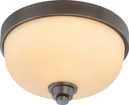 Nuvo Lighting 60-4211 Helium Collection One Light Flush Ceiling Mount in Vintage Bronze Finish - Quality Discount Lighting