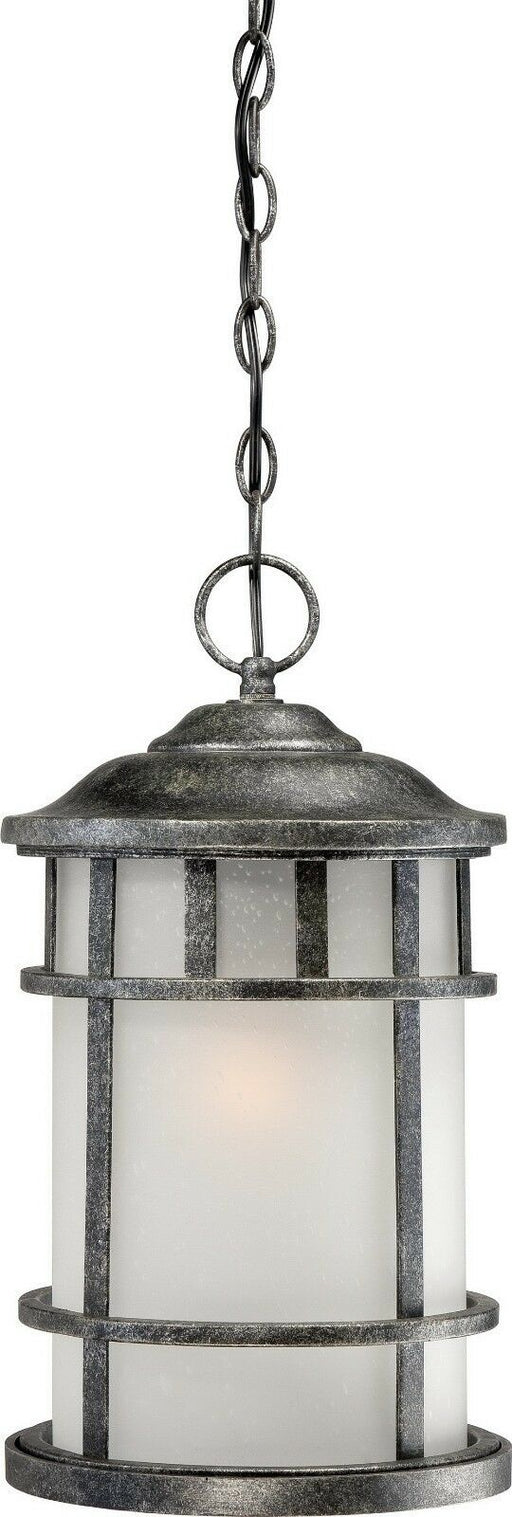 Nuvo Lighting 60-5734 Manor Collection One Light Energy Star GU24 Exterior Outdoor Hanging Lantern in Aged Silver Finish