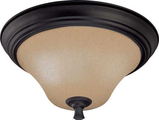 Nuvo Lighting 60-1726 Dakota Collection Two Light Flush Ceiling Mount in Mountain Lodge Bronze Finish - Quality Discount Lighting