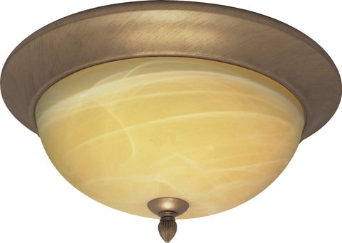Nuvo Lighting 60-146 Vanguard Collection Three Light Flush Ceiling Mount in Flemish Gold Finish - Quality Discount Lighting