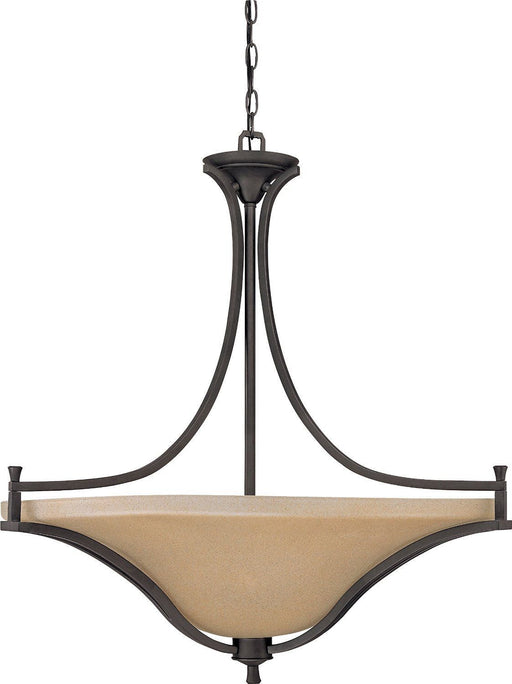 Nuvo Lighting 60-1731 Dakota Collection Four Light Pendant Chandelier in Mountain Lodge Bronze Finish - Quality Discount Lighting
