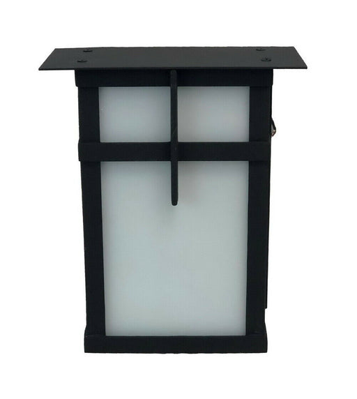 Trans Globe Lighting PL-5280 BK One Light LED Outdoor Wall Lantern in Black Finish