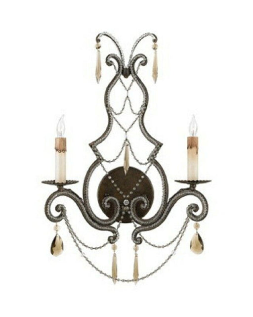 Quoizel Lighting RDA8702 RY Diana Collection Two Light Wall Sconce in Regency Gold Finish
