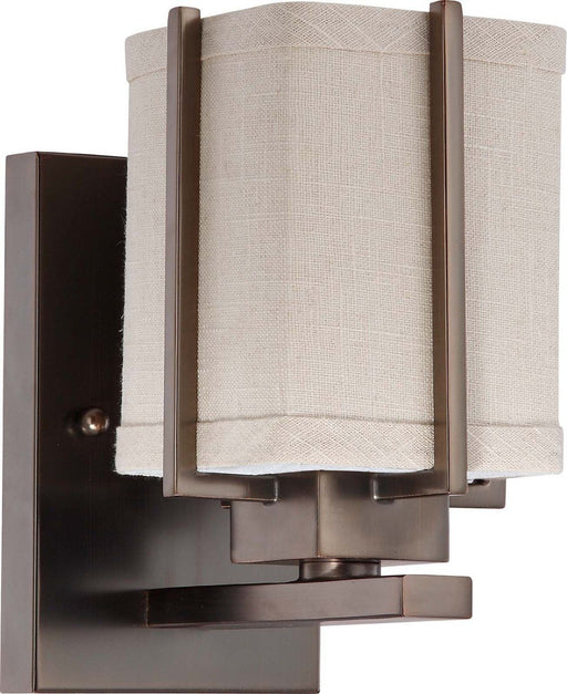 Nuvo Lighting 60-4481 Logan Collection One Light Wall Sconce in Hazel Bronze Finish - Quality Discount Lighting