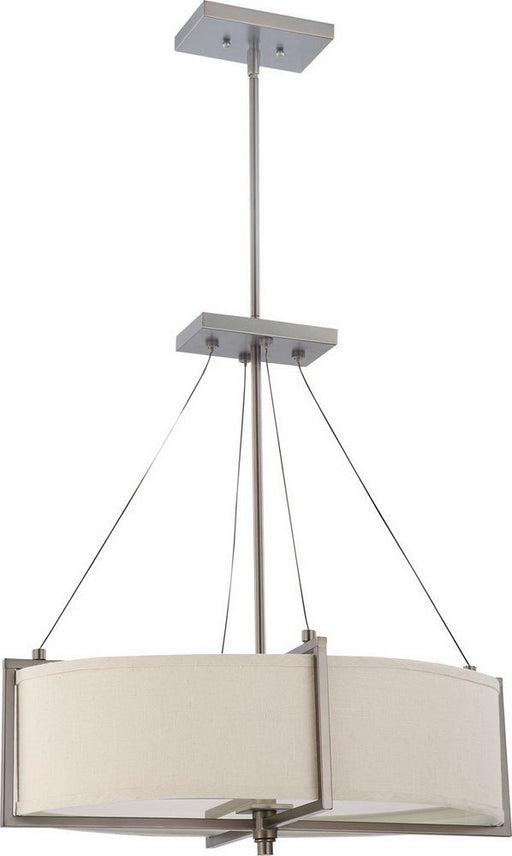 Nuvo Lighting 60-4046 Portia Collection Oval Six Light Energy Star Efficient Fluorescent GU24 Chandelier in Hazel Bronze Finish - Quality Discount Lighting