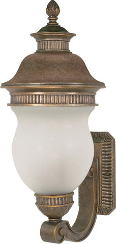 Nuvo Lighting 60-878 Luxor Collection Three Light Exterior Outdoor Wall Lantern in Platinum Gold Finish - Quality Discount Lighting
