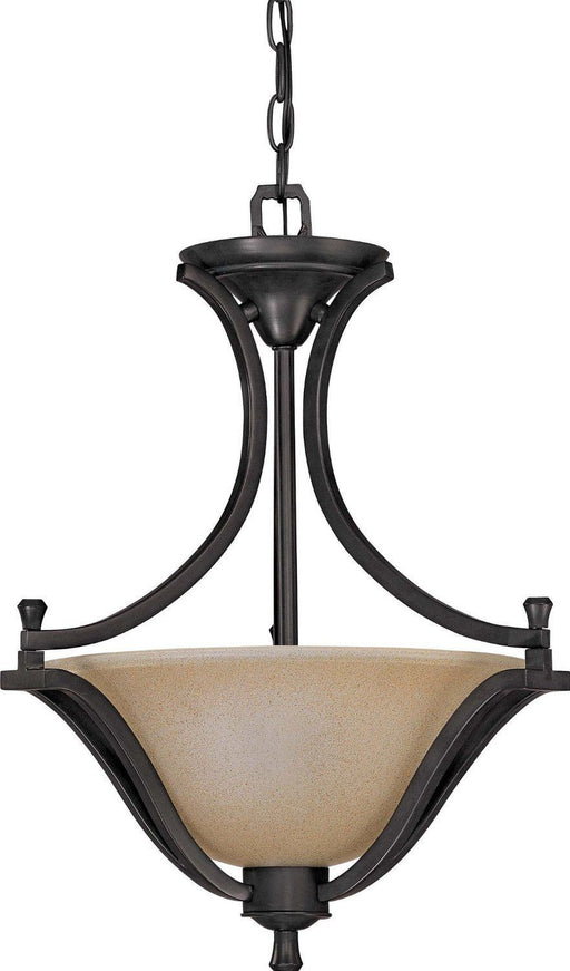 Nuvo Lighting 60-1737 Dakota Collection Two Light Pendant Chandelier in Mountain Lodge Bronze Finish - Quality Discount Lighting