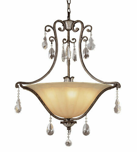 Trans Globe 3516840 Chatsworth Collection Five Light Pendant Chandelier in Antique Bronze Finish