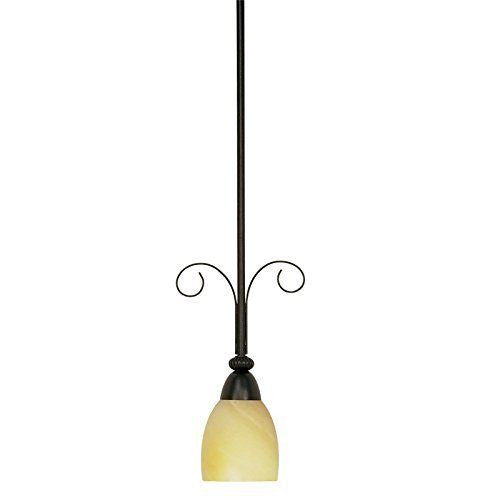Nuvo Lighting 60-153 Vanguard Collection One Light Hanging Mini Pendant Chandelier in Textured Black Finish - Quality Discount Lighting