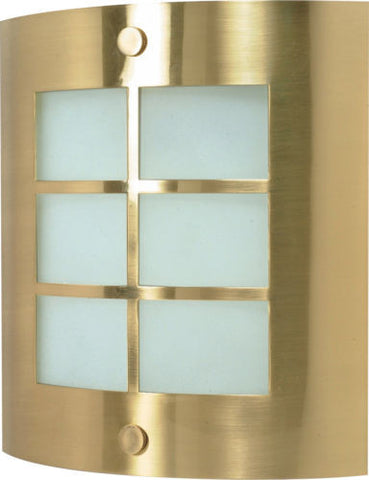 Nuvo Lighting 60-947 One Light Energy Star Efficient GU24 Fluorescent Wall Sconce in Brushed Brass Finish - Quality Discount Lighting