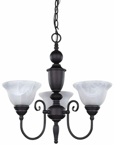 Rainbow Lighting 20A03  Three Light Hanging Chandelier in Oil Rubbed Bronze Finish