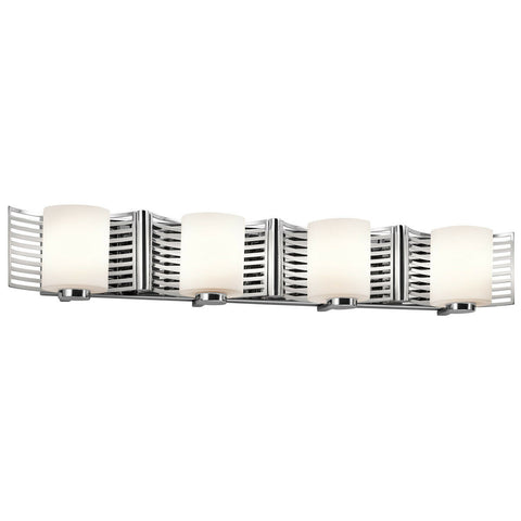 Kichler Lighting 45434 CH Selene Collection Four Light Bath Vanity Wall Mount in Polished Chrome Finish