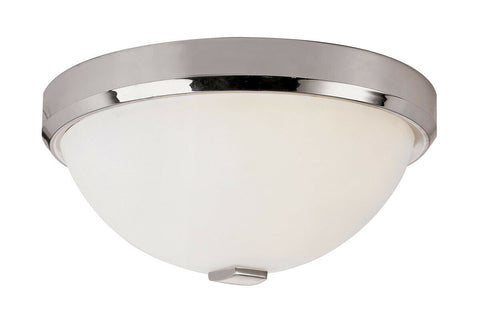 Trans Globe Lighting LED-10111 PC Squared Cap Collection Integrated LED Flush Ceiling Fixture in Polished Chrome Finish