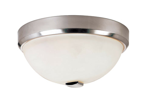 Trans Globe Lighting LED-10111 BN Squared Cap Collection Integrated LED Flush Ceiling Fixture in Brushed Nickel Finish