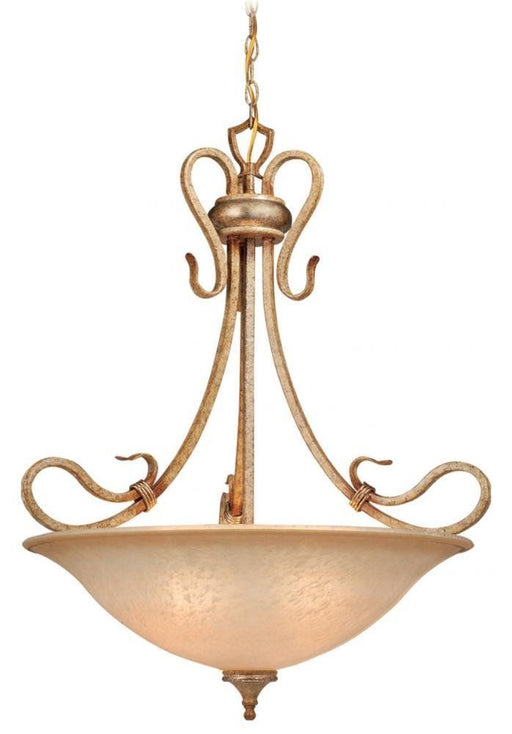 Vaxcel Lighting BE-PDU260 CA Berkeley Collection Four Light Pendant Chandelier in Corinthian Patina Finish - Quality Discount Lighting
