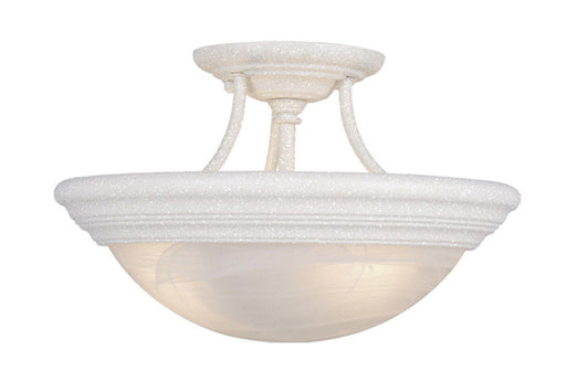 Vaxcel Lighting CC32714 TW Two Light Semi Flush Ceiling Fixture in Textured White Finish - Quality Discount Lighting